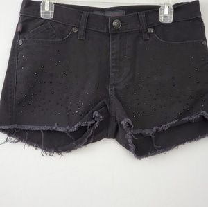 Rock and Republic Black Cutoff Shorts with Studs